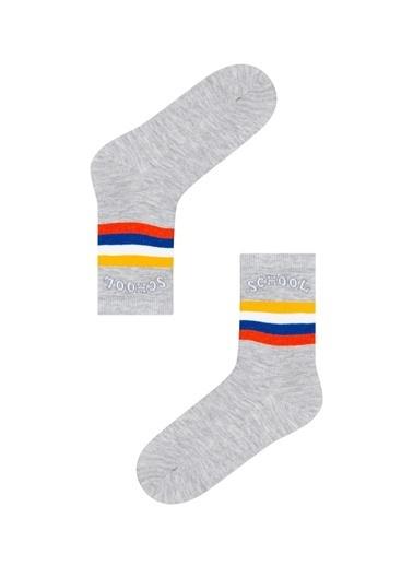 Penti Erkek Çocuk School Soket Çorap Gri